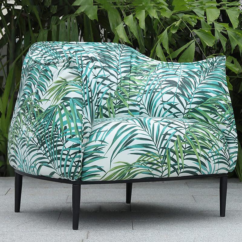 modern accent fabric armchair