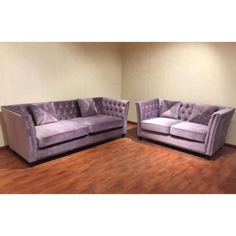 modern design velvet chesterfield fabric sofa