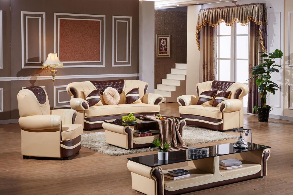 luxury brown leather sofa cushion set