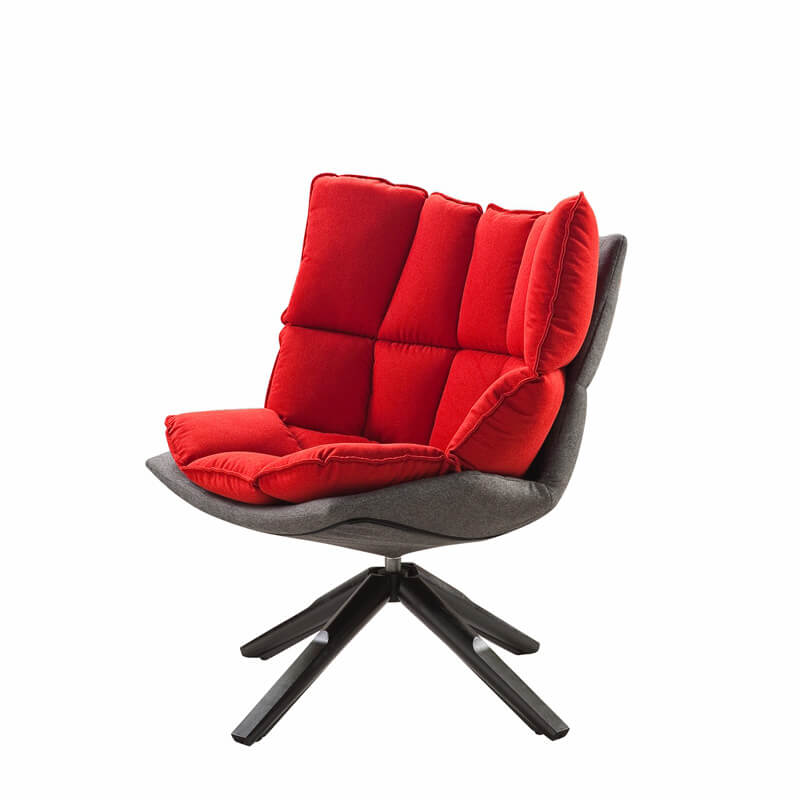 modern red lounge chair
