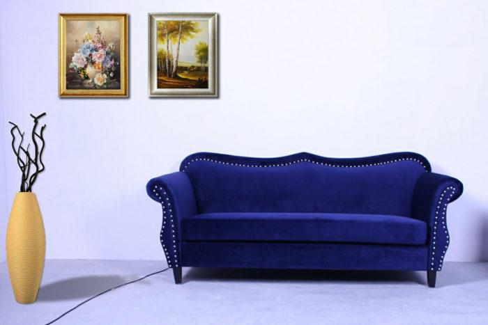 modern nailhead loveseat sofa