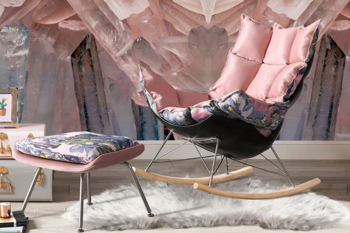 modern ottoman chair with rocking funtion