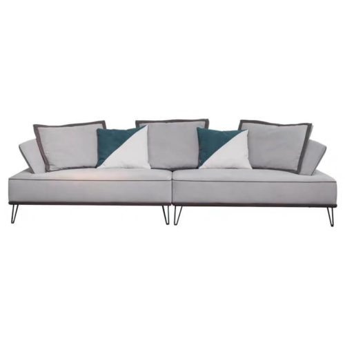 3 seater blue velvet sofa set