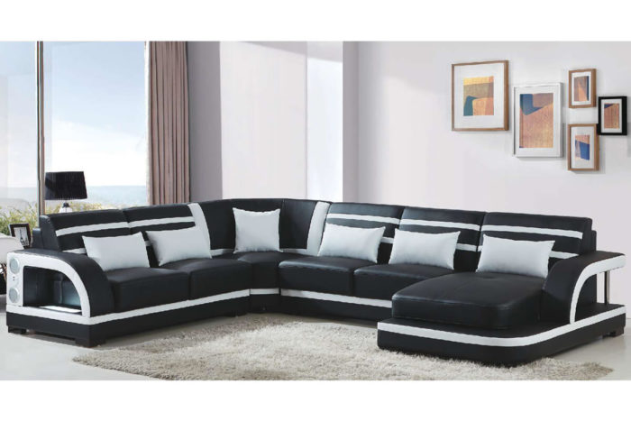 black left chaise sectional sofa