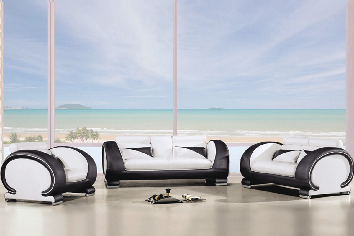 modular leather sofa set