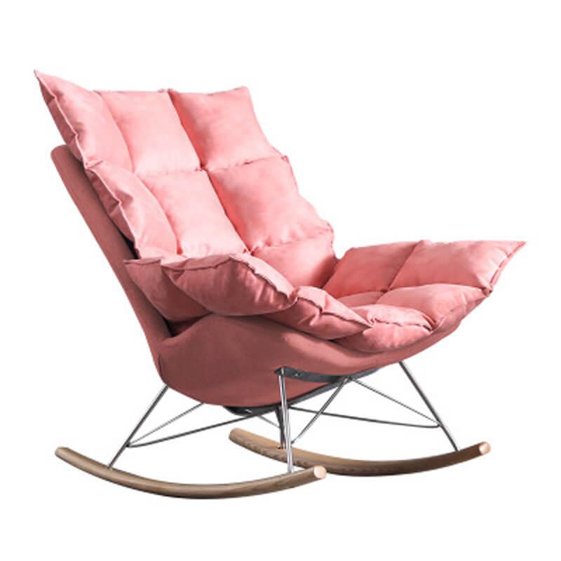 pink rocker armchair