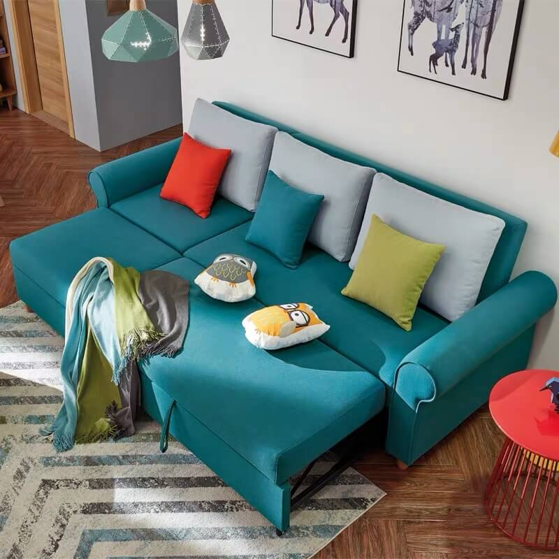 comfy sectional couch with pull out bed