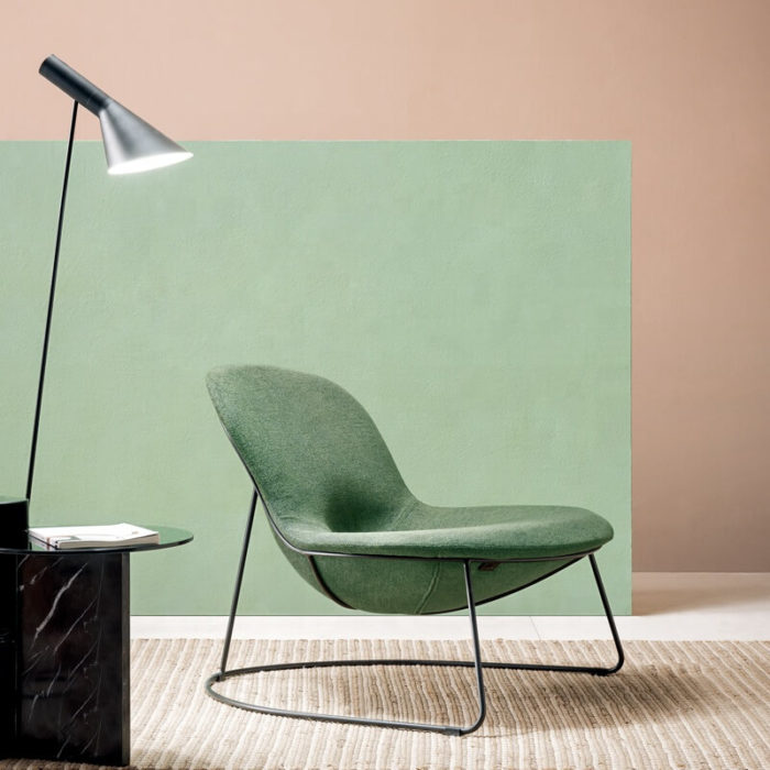 green reading armchair for bedroom