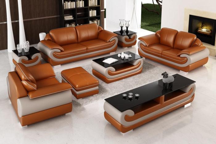 5 seater brown sofa set