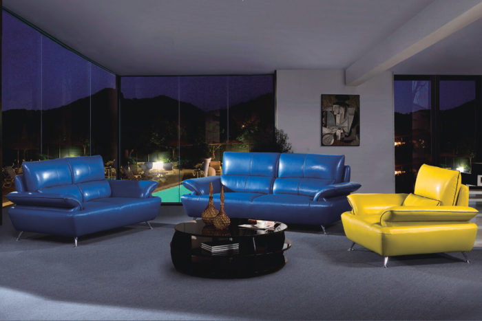 comfortable real leather sofa