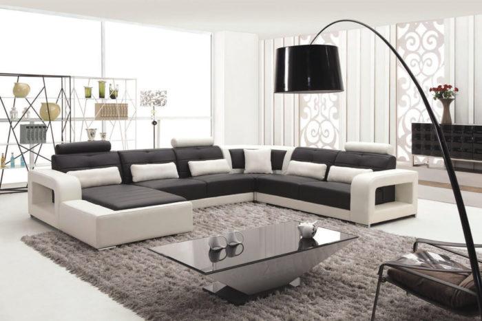 black leather l shaped lounge