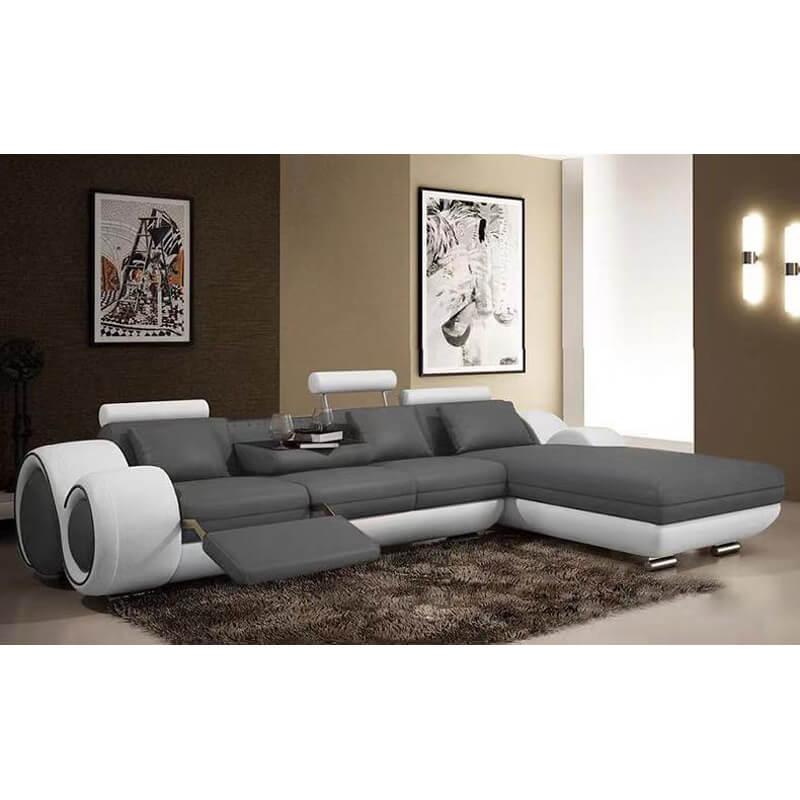 black reclining sectional sofa
