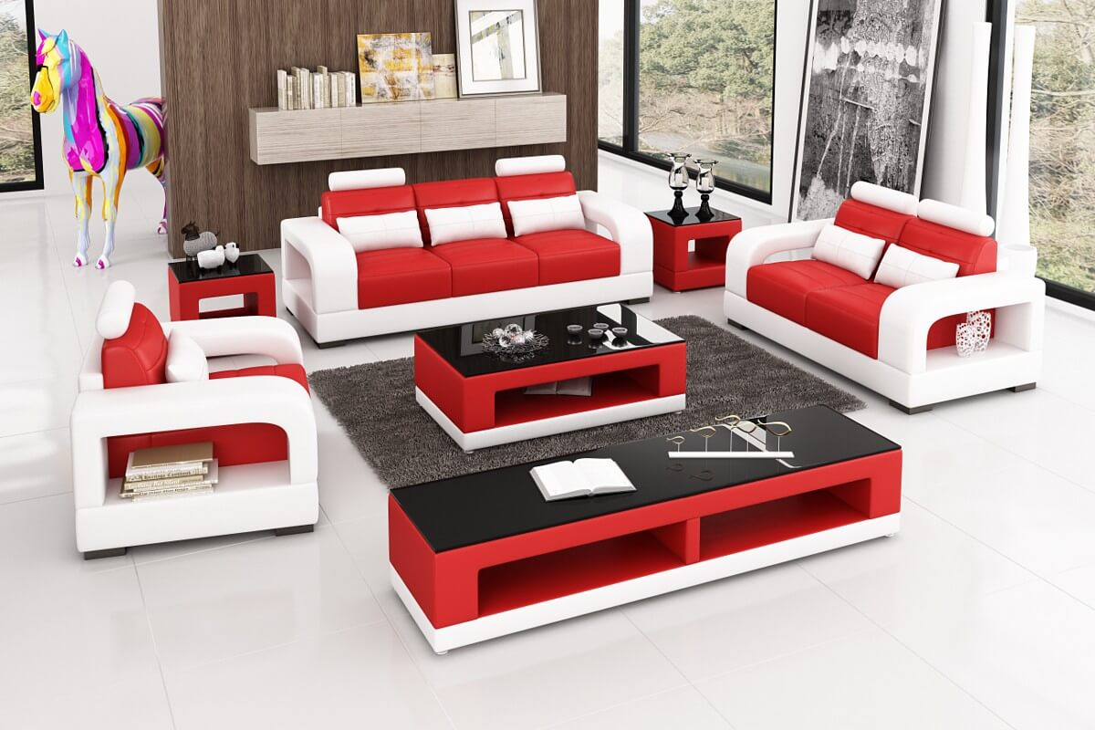 red living room new sofa set