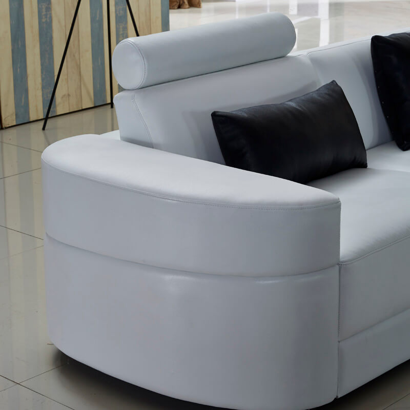 round design sofa arm