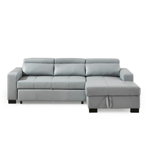 sectional leather sleeper sofa