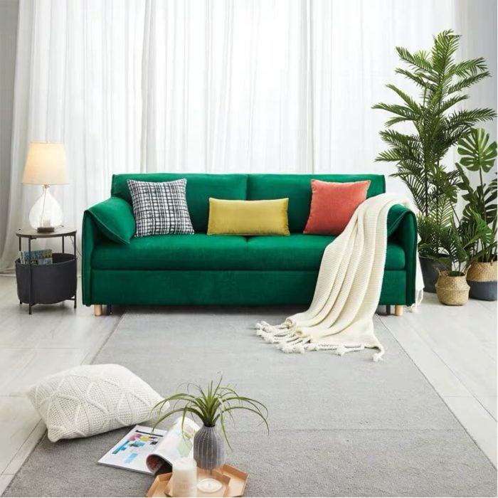 green bunk bed sleeper sofa