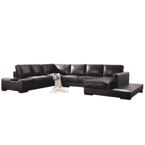 modular brown sectional couch
