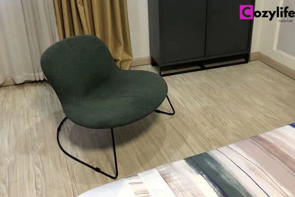 single seat fabric armchair