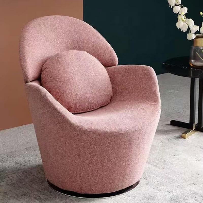 single seat pink swivel sofa chair