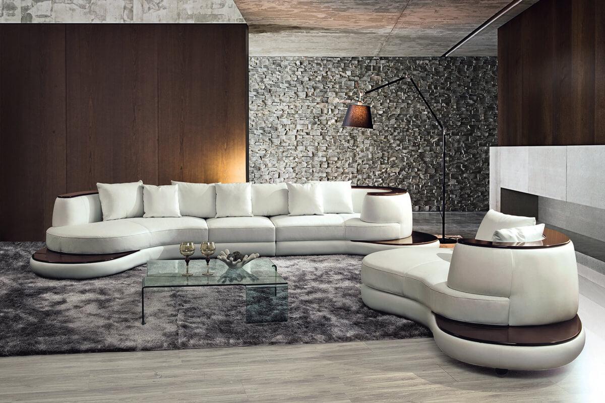 sitting room circular leather sectional sofa