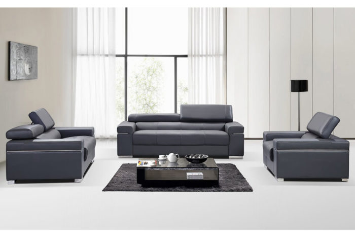 sitting room leather sofa set