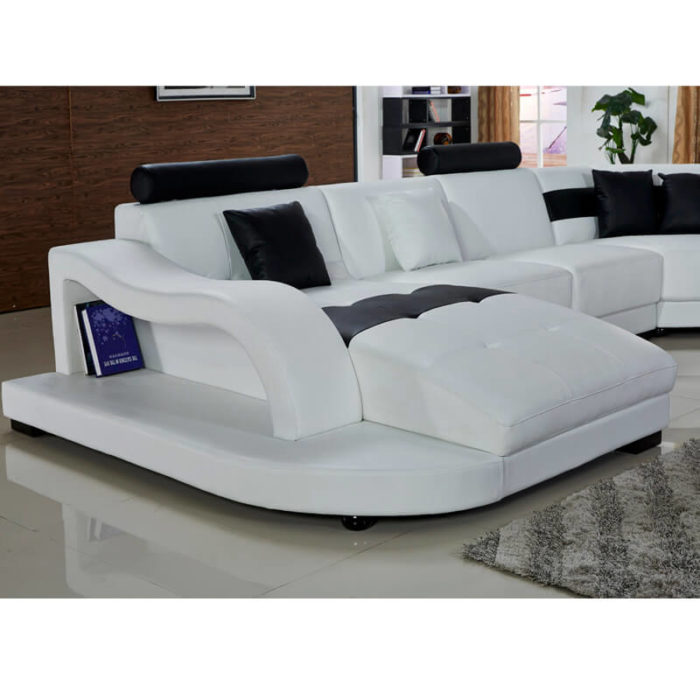 oversized white leather sectional sofa