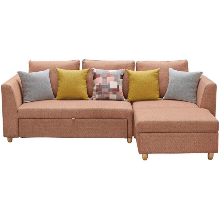 modern sectional pink sleeper sofa