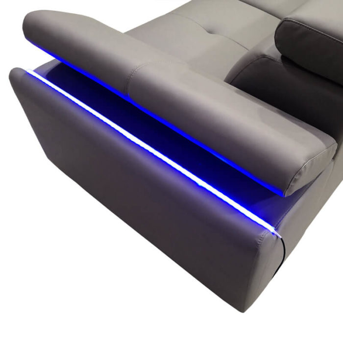 sofa arm with led light