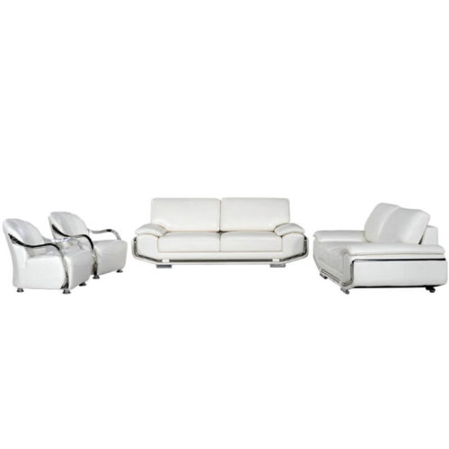 white leather sofa and chair set