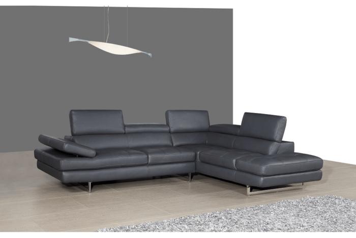 black leather l shaped sofa