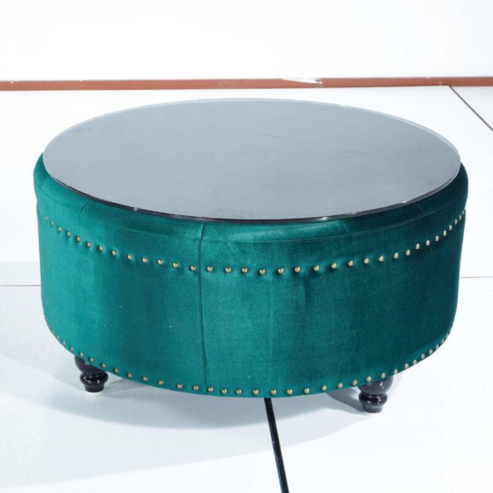round green sofa ottoman