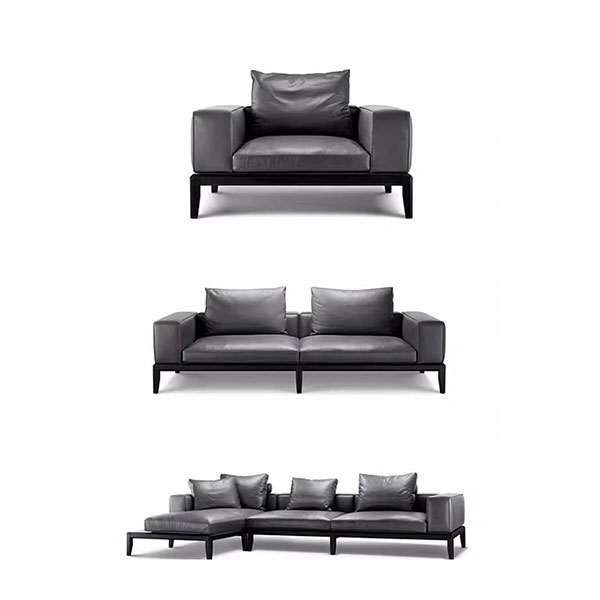 black couch and chair set