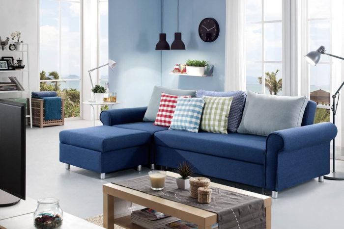 modern blue ottoman sofa bed