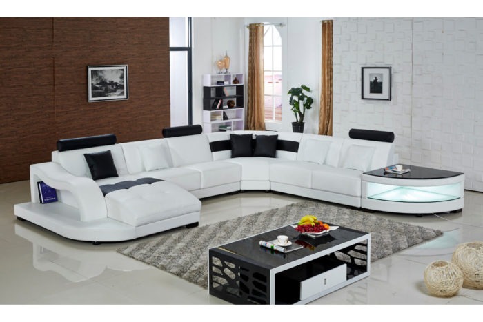 top grain leather custom sectional sofa