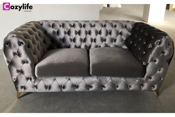 traditional loveseat chesterfield