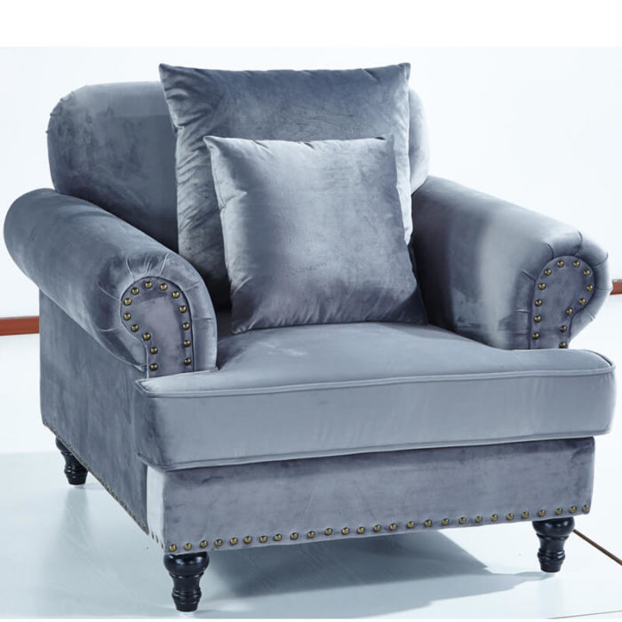 classic blue sofa chair