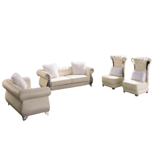 tufted leather sofa set in leather