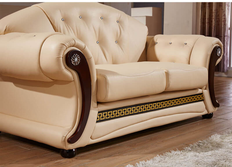 two seater loveseat tufted sofa