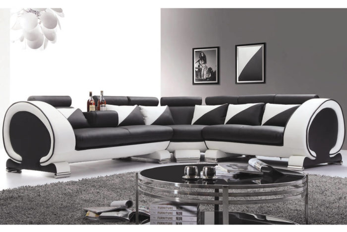 upholstered new L-shaped sectional sofa