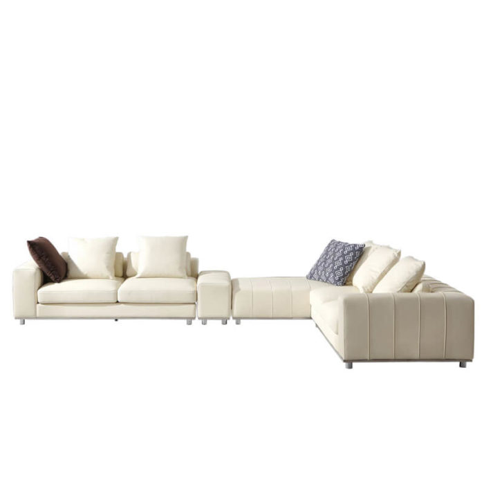modern corner L couch