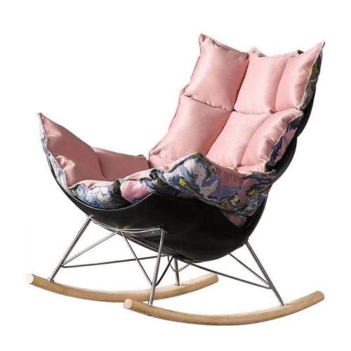 wood rocking indoor ottoman chair
