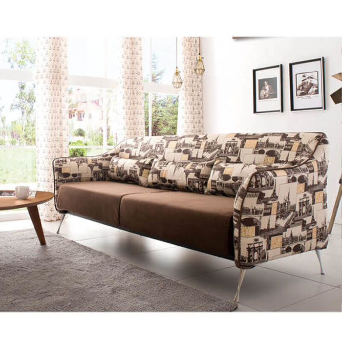 wooden fold down couch
