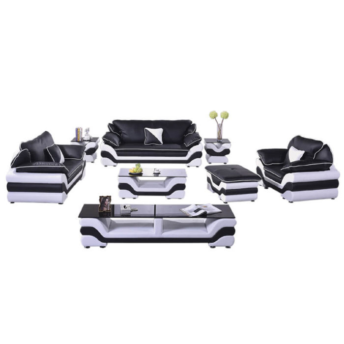 modern faux leather large sofa set
