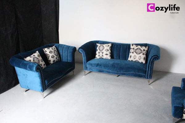 2 piece turquoise sofa