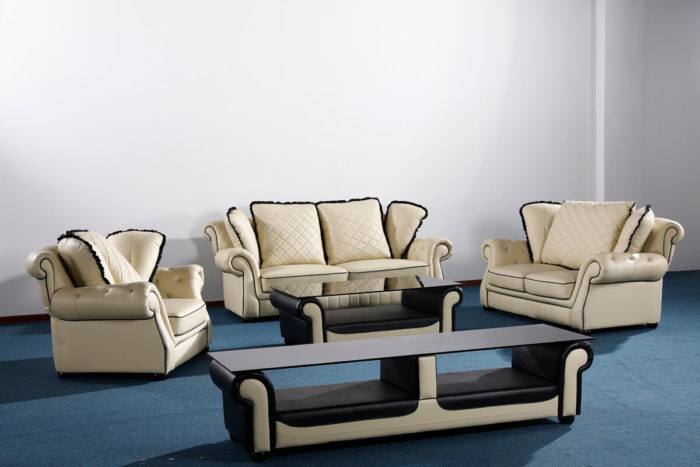 classic leather chesterfield sofa set