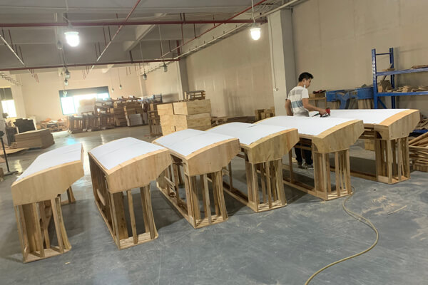 sofa wood frame workshop