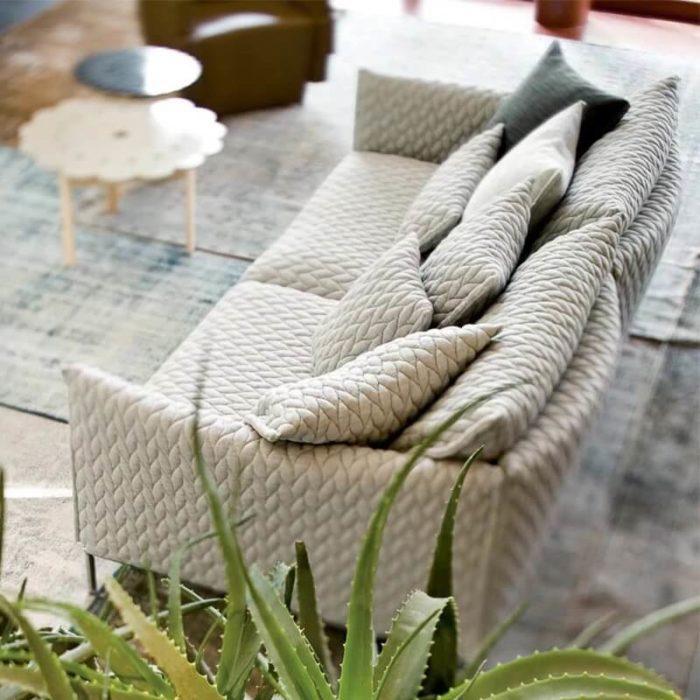 2 seater beige sofa