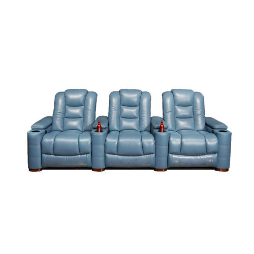 3-seater cinema recliner sofa with cup holders