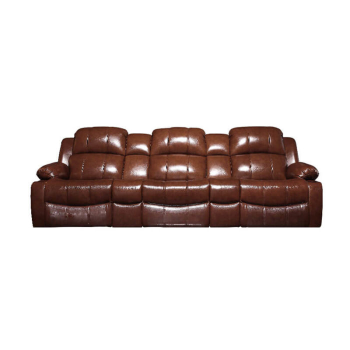 Brown leather movie theater recliner chairs