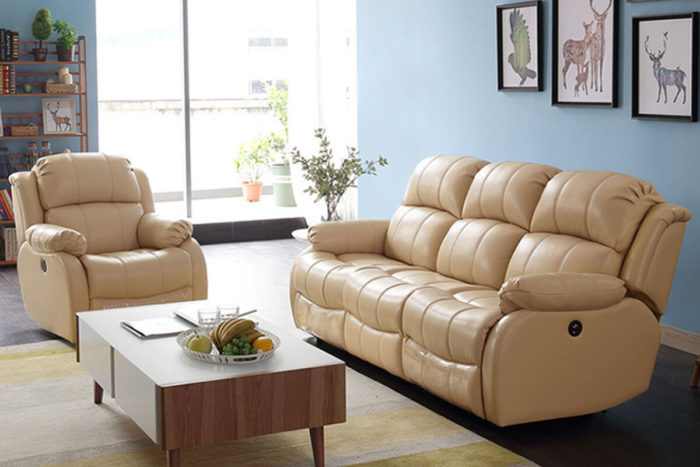 3 seater leather recliner sofa